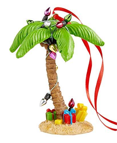Holiday Lane Christmas Palm Tree with Christmas Lights Ornament