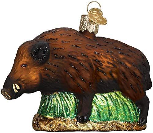 Old World Christmas Glass Blown Ornament Wild Boar (12500)