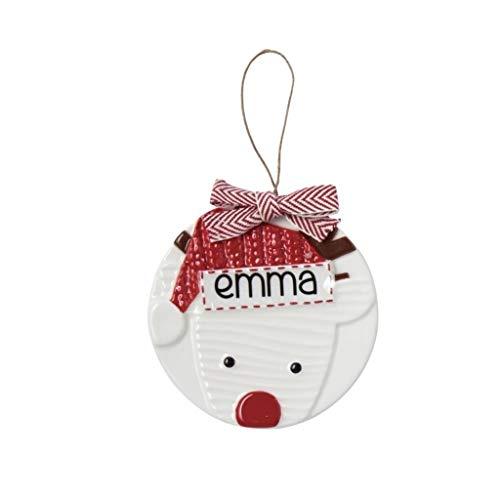 Mud Pie Reindeer Personalizable Ceramic Hanging Ornament (Reindeer)