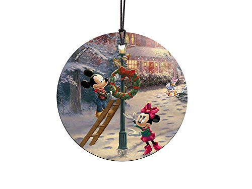 Trend Setters Disney – Mickey Mouse – Minnie Mouse – Victorian Christmas – Starfire Prints Hanging Glass – Ideal for Gifting and Collecting