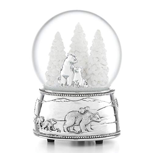 Reed & Barton 886529 North Pole Bound Polar Bear & Cubs Musical Snowglobe