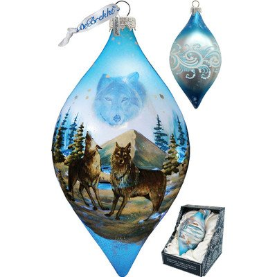 G. Debrekht Winterwolves Glass Ornament, 5.5″