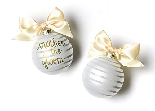 Coton Colors Stripe Mother of The Groom Glass Ornament