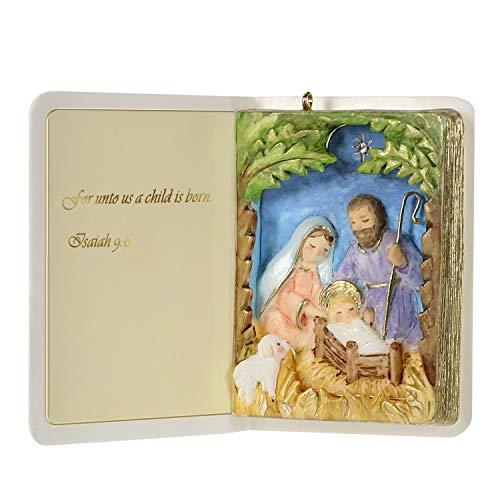 Hallmark Keepsake Christmas 2019 Year Dated Nativity Bible Religious Ornament