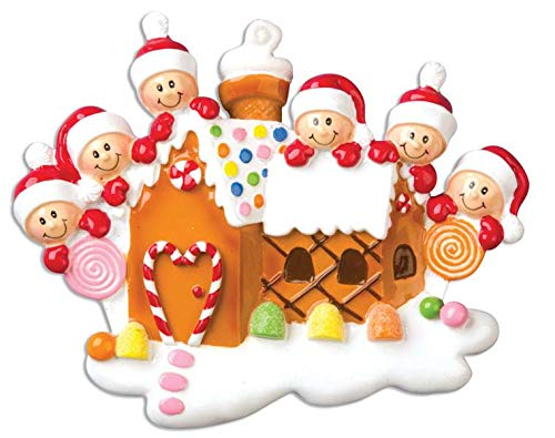 Polar X Gingerbread House with 6 Personalized Christmas Ornament (Family Series)
