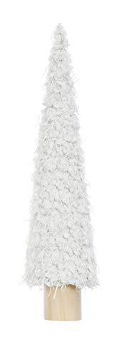 Creative Co-op Fabric Decoration Tree Figurine, Cream