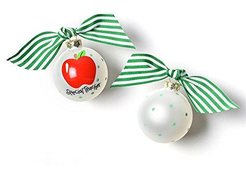 Coton Colors Special Teacher Glass Ornament