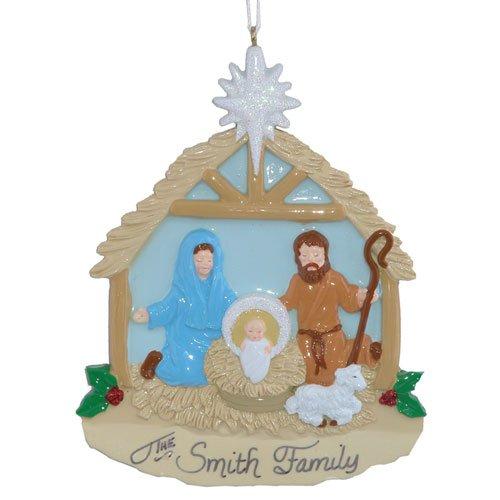 Nativity Personalized Christmas Tree Ornament