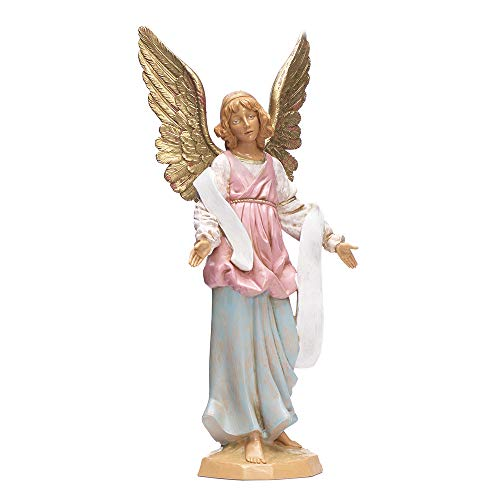 Fontanini, Nativity Figure, Standing Angel, 12″ Scale, Collection, Handmade in Italy, Designed and Manufactured in Tuscany, Polymer, Hand Painted, Italian, Detailed