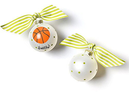 Coton Colors Basketball Glass Ornament