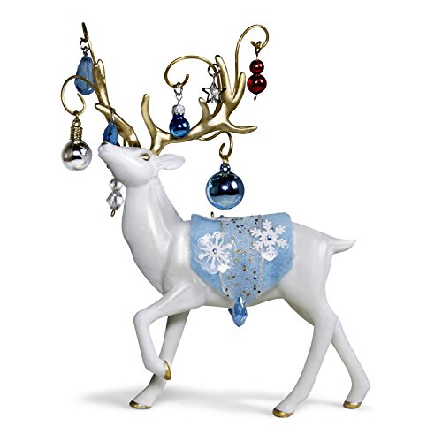 Hallmark Keepsake Christmas Ornament 2018 Year Dated, Regal Reindeer, Porcelain