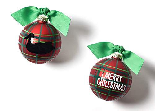 Coton Colors 100 MM Merry Christmas Duck Decoy Glass Ornament