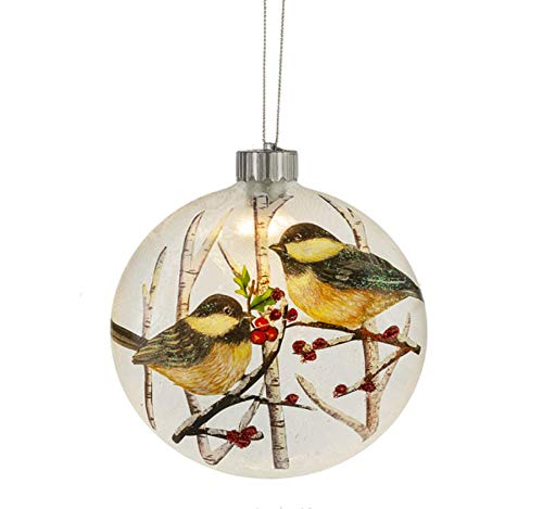 Midwest- CBK LED Lighted Chickadee Disk Ornament