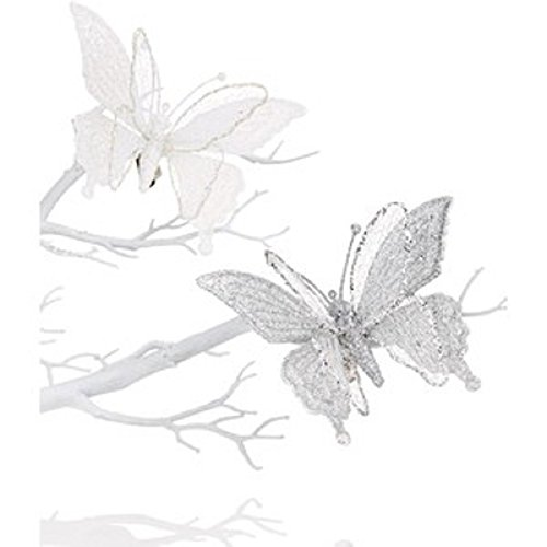 Holiday Lane Set of 2 Clip-On Butterfly Ornaments