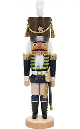 Alexander Taron 32-551 Christian Ulbricht Nutcracker-Blue Soldier-17 H x 5.25″ W x 5″ D, Brown