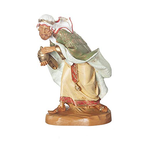 Fontanini, Nativity Figure, King Gaspar, 7.5″ Scale, Collection, Handmade in Italy, Designed and Manufactured in Tuscany, Polymer, Hand Painted, Italian, Detailed