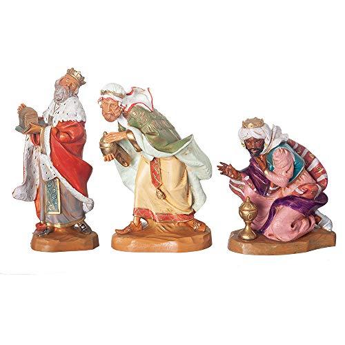 Fontanini, Nativity Figure, 3-pc Italian Three Kings Set, 7.5″ Scale
