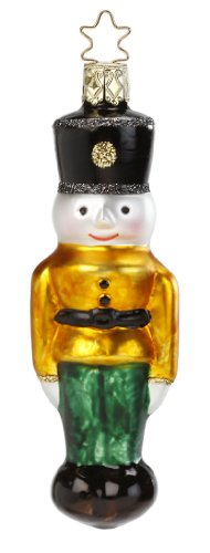 Inge Glas Toy Soldier Marching Toys 1-048-13a German Glass Christmas Ornament