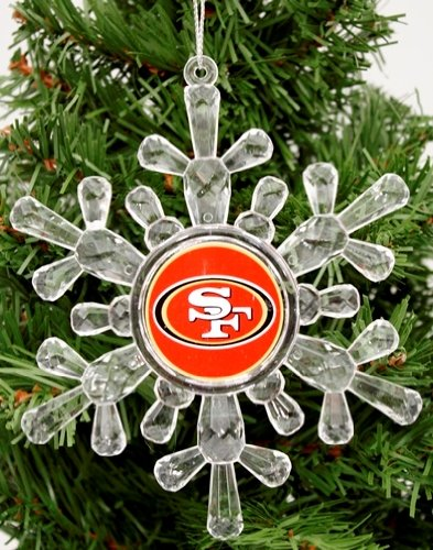 Classic Team Logo Snowflake Ornaments (Small, San Francisco 49ers)