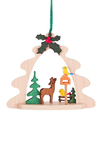 Alexander Taron 1992283-5 Dregeno Ornaments – Deer with Birdhouse – 3″ H x 2.75″ W x 1″ D, Brown