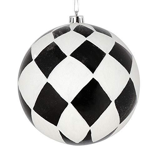 Vickerman Diamond Ornament, 4″, Black