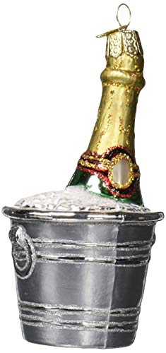 Old World Christmas Adult Beverages Glass Blown Ornaments for Christmas Tree Chilled Champagne
