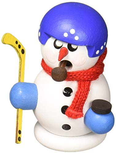 Alexander Taron 136-177 Dregeno Incense Burner – Snowman Hockey – 3″ H x 2″ W x 1.5″ D, Gray