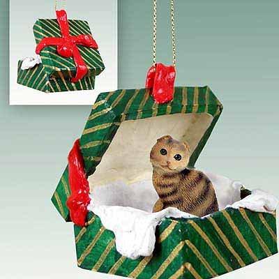 Scottish Fold Cat Gift Box Christmas Ornament – DELIGHTFUL!