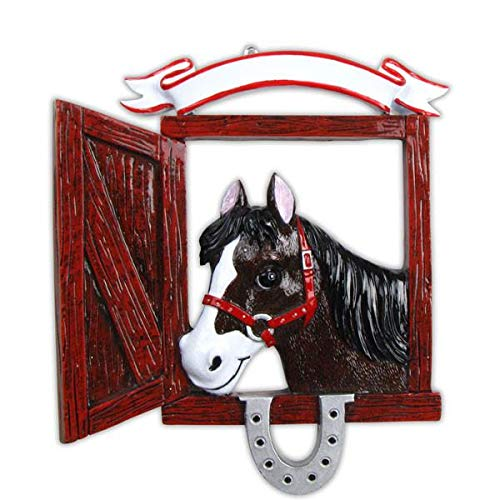 Polar X Love My Horse Personalized Christmas Ornament