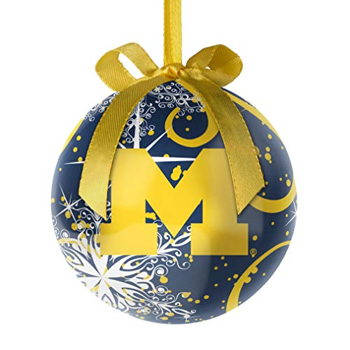 Topperscot NCAA Michigan Wolverines Decoupage Ball Holiday Ornament