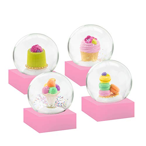 CoolSnowGlobes Mini Desserts Set of Four Snow Globes