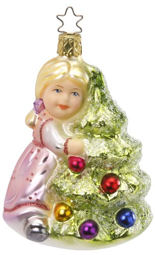 Inge Glas Girl Tree Ann-ticipation 1-064-12 German Glass Christmas Ornament