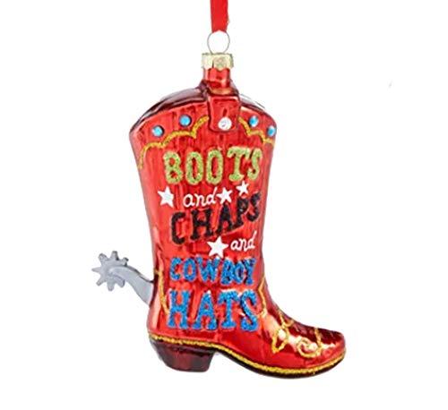 Holiday Lane Texas Cowboy Boot Ornament