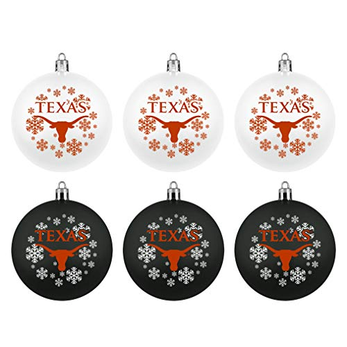 Topperscot Boelter Brands NCAA Texas Longhorns Home & Away Shatter Proof Ball Ornament Gift Set of 6
