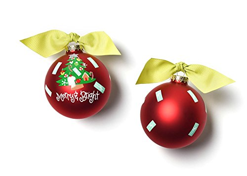 Coton Colors Merry & Bright Vintage Tree Glass Ornament