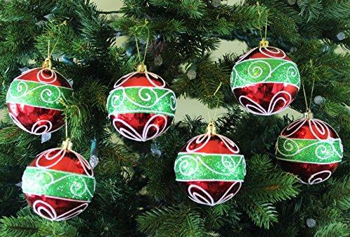 Sleetly Shatterproof Christmas Ornaments, Classic Christmas, 3.15 inches, Set of 12