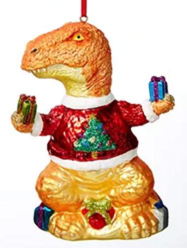 Holiday Lane Santas Favorites Dinosaur in Xmas Sweater Ornament