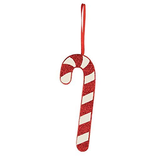 Bethany Lowe 4″ Glitter Candy Cane Christmas Tree Retro Vintage Decor Ornament