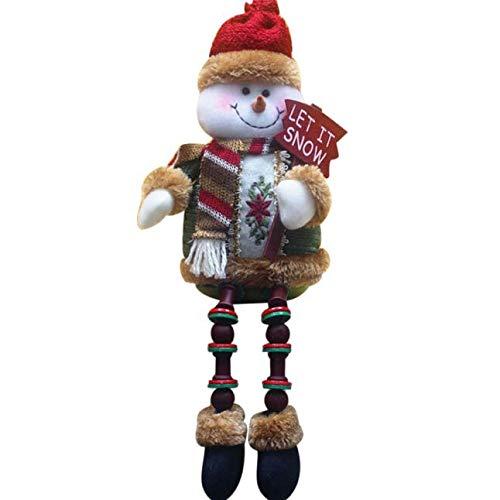 JJHAEVDY Christmas Plush Toy Long Leg Sitting Santa Doll Ornaments Table Fireplace Decor Home Decoration Xmas Figurines