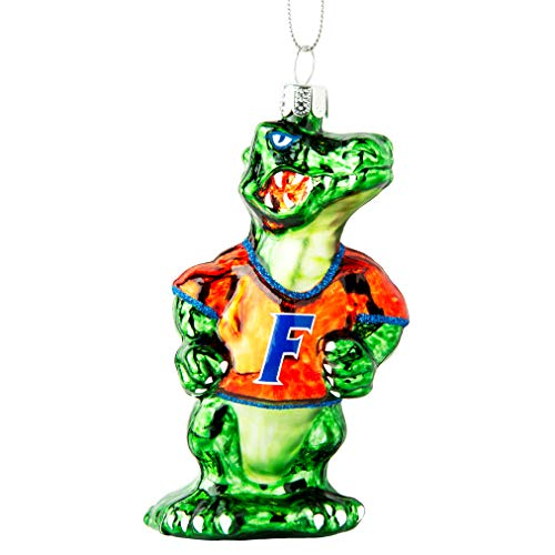 DTH Florida Gators Blown Glass Mascot Ornament