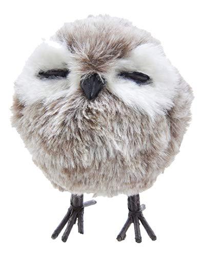 Kurt Adler Standing Gray Owl Ornament