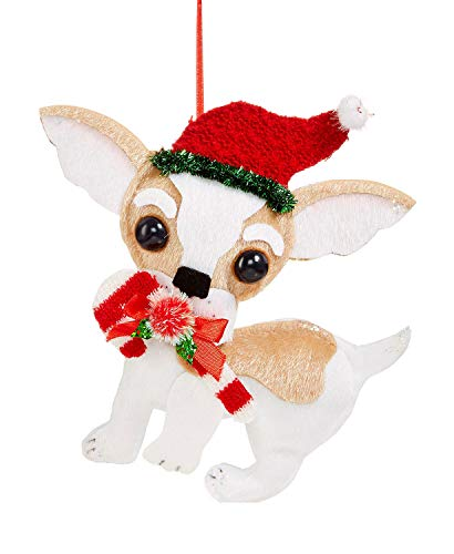Holiday Lane Fabric Chihuahua Ornament