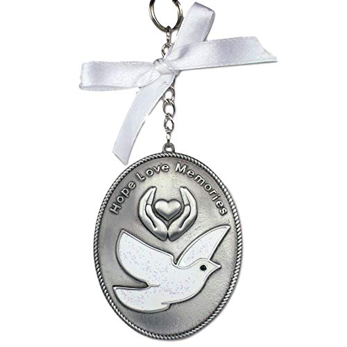 BANBERRY DESIGNS in Loving Memory – Memorial Christmas Ornament with White Dove – Hope Love Memories Message – Sympathy