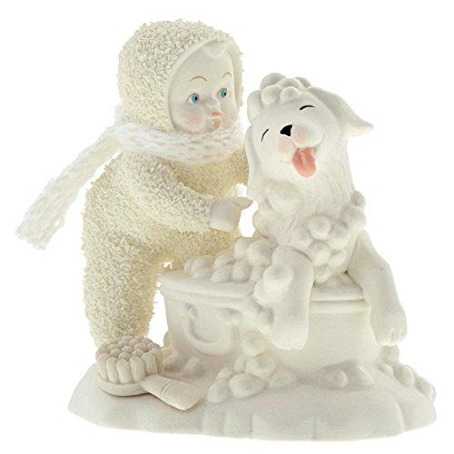"""Department 56 Snowbabies """"Bath Time"""" Porcelain Figurine, 4″"""