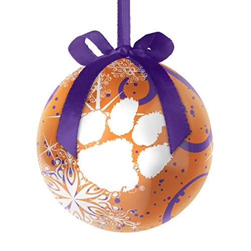 Topperscot NCAA Clemson Tigers Decoupage Ball Holiday Ornament