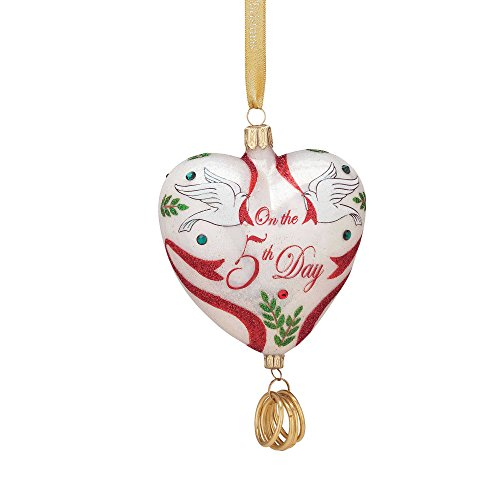Reed & Barton 12 Days of Christmas 5 Golden Rings Ornament