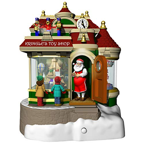 Hallmark Keepsake Christmas Ornament 2019 Year Dated Kringle's Toy Shop with Light, Sound and Motion