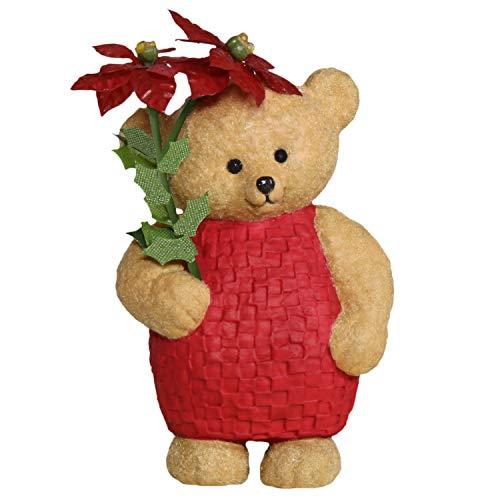 Hallmark Keepsake Christmas Ornament 2019 Year Dated Mary Hamilton's Bears Pretty Poinsettia