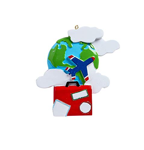 Rudolph & Me Inc World Travelers Personalized Christmas Ornament