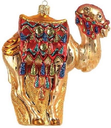 Pinnacle Peak Trading Company Camel Polish Glass Christmas Ornament Made in Poland Decoration